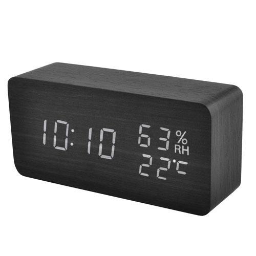 Годинник мережеві 862S-6 чорні, USB