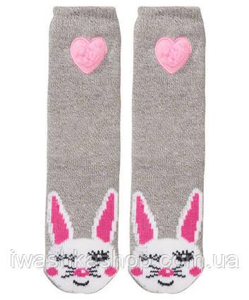 Серые домашние носки - тапочки на девочек, р. 35/38, X-Mail / KIK