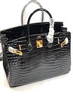 Жіноча сумка Гермес Біркін 35 см натуральна шкіра під кроко (репліка), фото 1