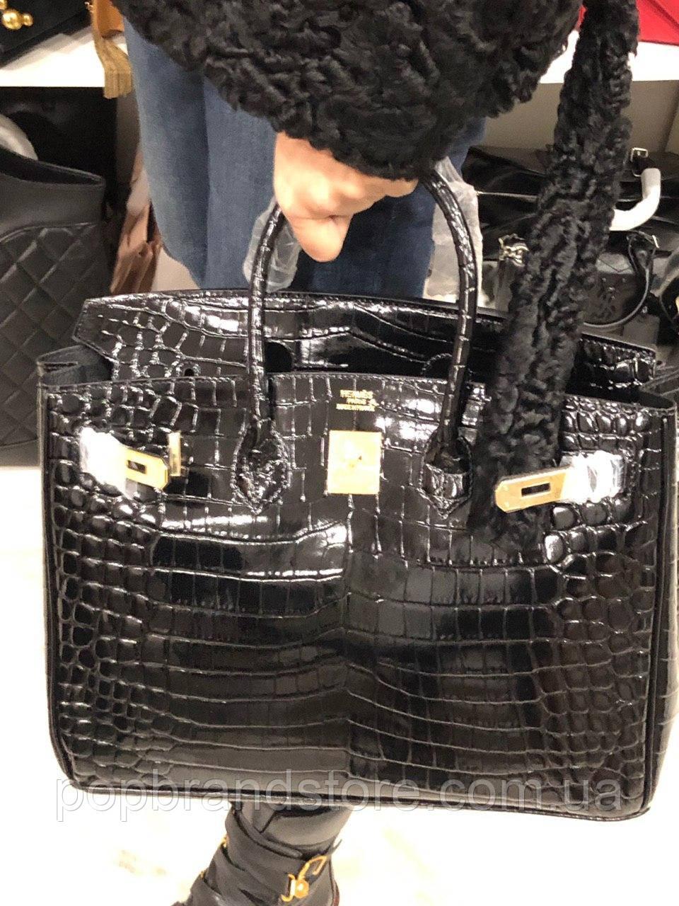 080af368ea27 Женская сумка Гермес Биркин 35 см натуральная кожа под кроко (реплика),  цена 4 800 грн., купить в Киеве — Prom.ua (ID#874637821)