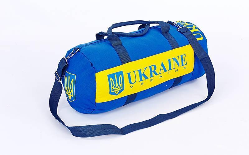 f48ff5e5cea3 Сумка для тренировок с национальной украинской символикой UKRAINE GA-5633-5  желтый-голубой