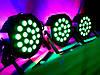 Заливочный свет ПАР 18x1WRGB 3in1 DMX + пульт ДУ. Цветомузыка Dzyga, фото 3