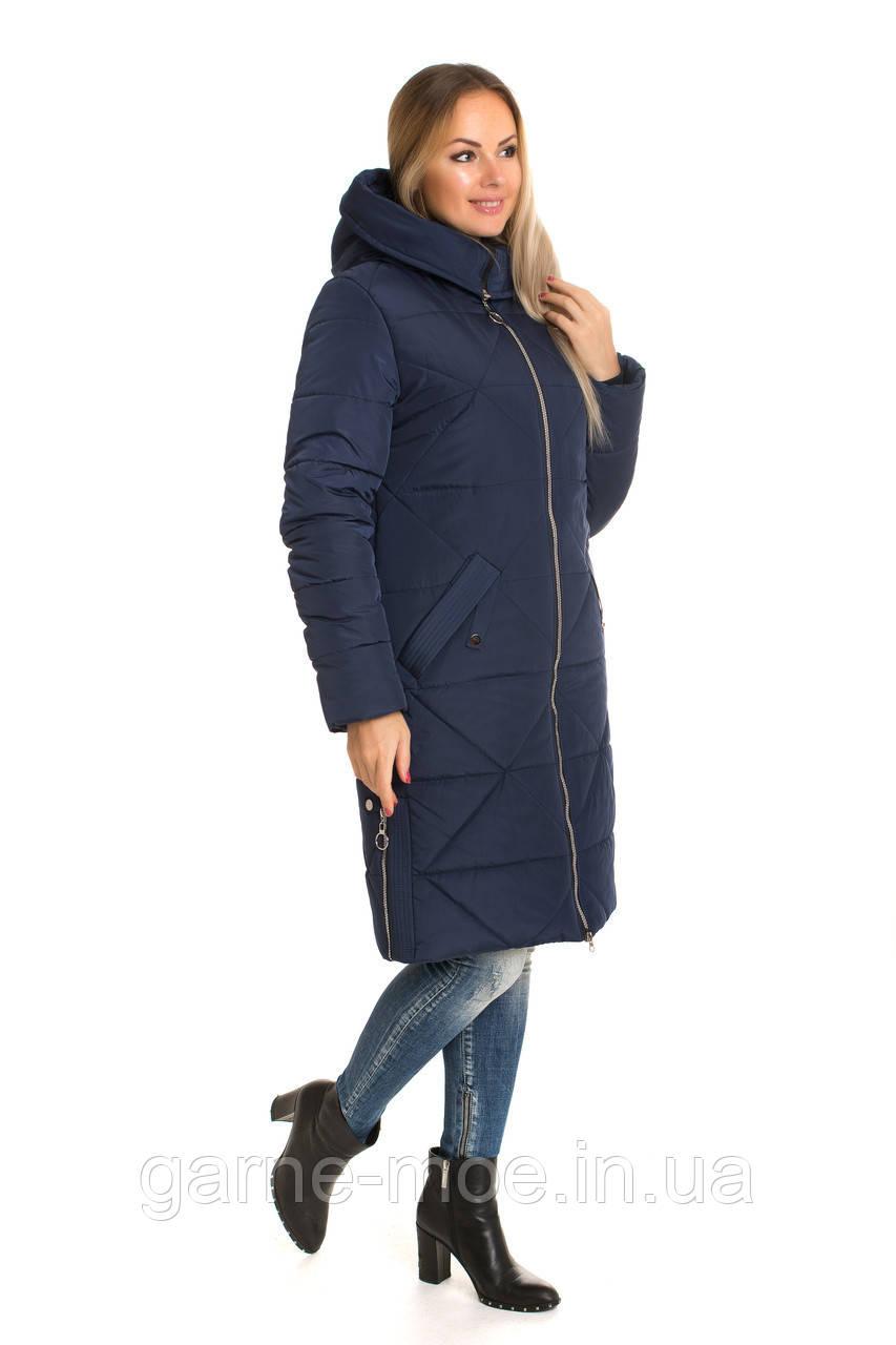 ЛД753-1 Женское пальто-пуховик без меха размеры 42-60
