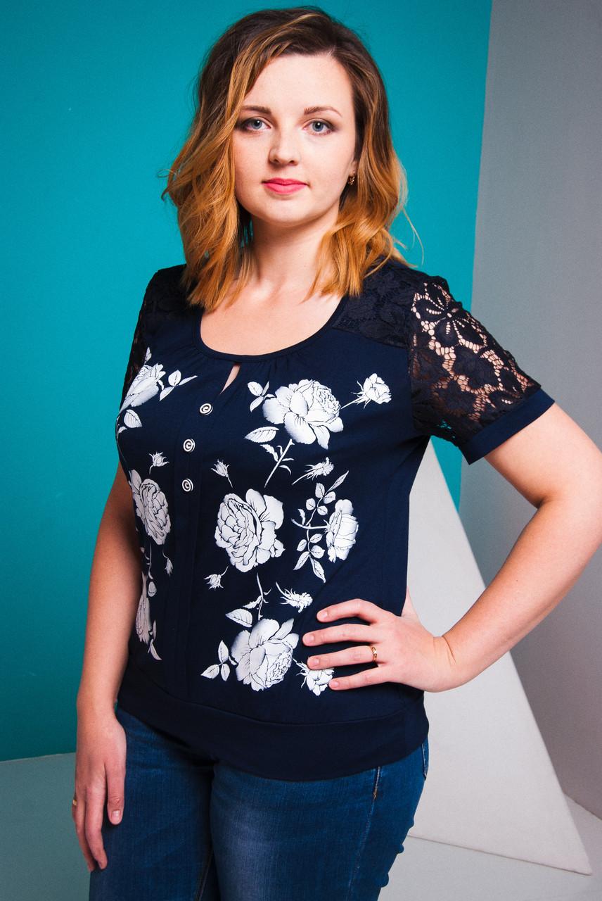 0e14e4d43f6 Летняя женская блуза Весна Размеры 50-58 - batalook-Производитель  качественной женской одежды по