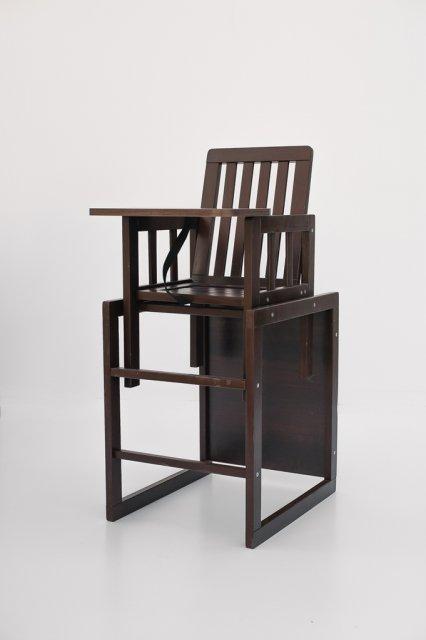 детский деревянный стульчик для кормления Deson малыш M18 03 шоколад