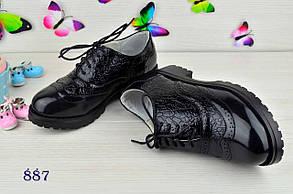 Туфли  детские  на девочку из эко кожи под лак черные 34р., фото 2