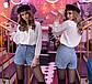 """Стильные женские шорты 510 """"Букле Мрамор"""" в расцветках, фото 3"""