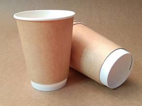 """Бумажный стакан 425 мл """"Крафт"""" двухслойный"""