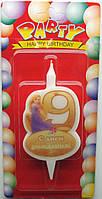 """Свечи для торта """"Принцессы Дисней""""-«9»"""