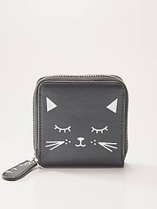 Кошелек House - Черный принт кошки (Гаманець)