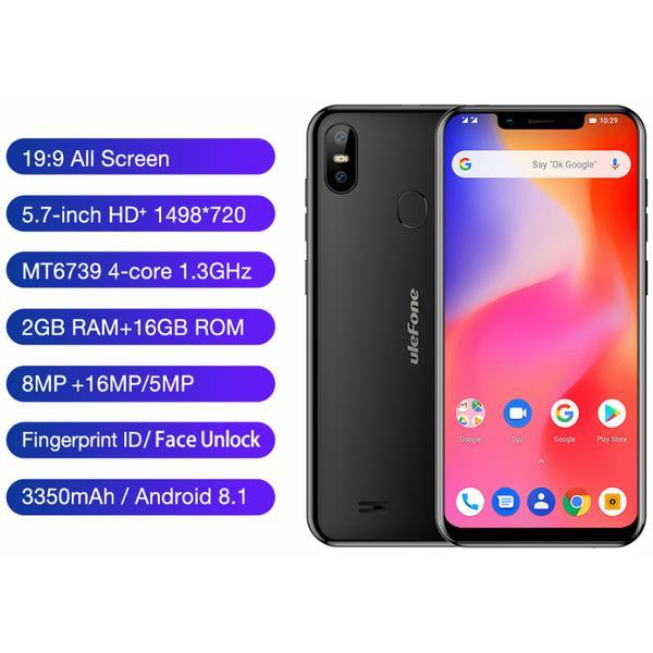 "Смартфон Ulefone S10 Pro 2/16Gb Black, 2SIM, 13+5/5Мп, 3350 мАh, 5.7"" IPS, 4G, 4 ядра"