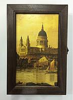 """Ключница  настенная, деревянная - """" Венеция """" 60278, фото 1"""