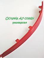 Світловідбивач катафот заднього бампера правий Шкода Октавія А7 універсал комбі SkodaMag 5E9945106, фото 1