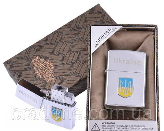 Зажигалка подарочная в коробочке XD-9 Герб Украины, фото 2