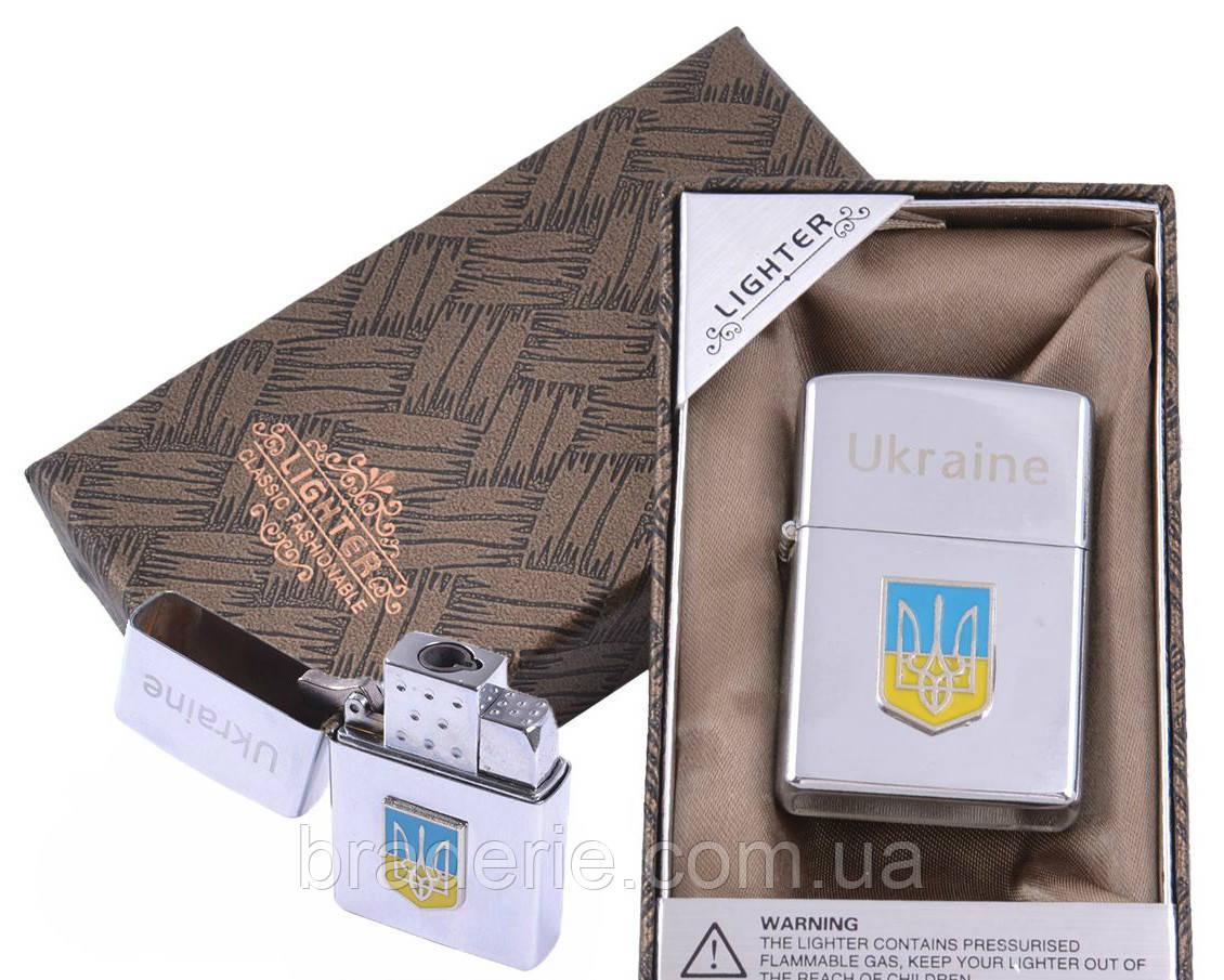 Зажигалка подарочная в коробочке XD-9 Герб Украины