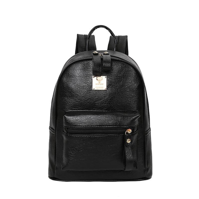 1e7cce5d101a Молодежный женский рюкзак черный из экокожи купить по выгодной цене ...