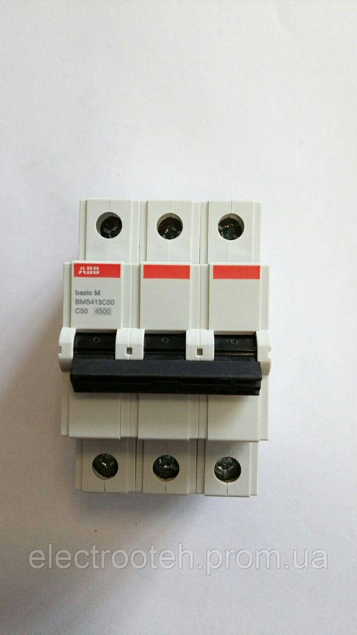 Автоматический выключатель ABB (3Р, 50 А, C) 4.5 кА