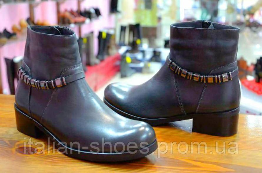 Зимние серые ботинки Marika -741