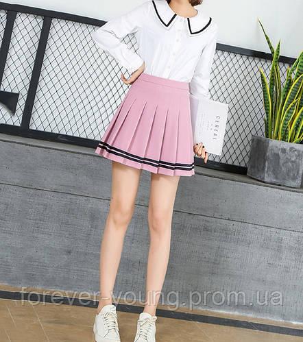 40dacab28bf Купить Теннисная юбка с черными полосками розовая в Киеве от компании