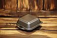 Ланч-бокс одноразовый HB-7 (мини сендвич) из вспененного полистирола с крышкой 135x135x70 мм., фото 3