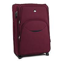 Средний тканевый чемодан Wings 1708 на 2 колесах бордовый