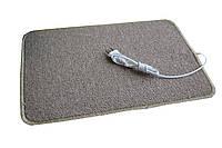 Килимок з підігрівом, колір – Коричневий, Закруглений, електрокилимок в ковроліні