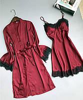 Женский комплект халат и ночная сорочка Nakedlady Laces Set