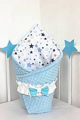 """Конверт-одеяло на выписку универсальный """"Blue Starfall"""""""
