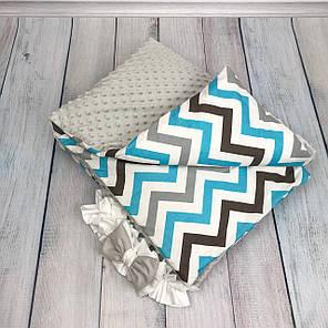 """Конверт-одеяло на выписку универсальный """"Waves"""", фото 2"""