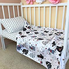 """Постельное бельё в детскую кроватку """"Fanny Cats"""""""