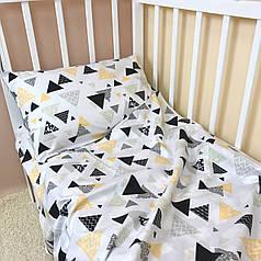 """Постельное бельё в детскую кроватку """"Треугольнички"""""""