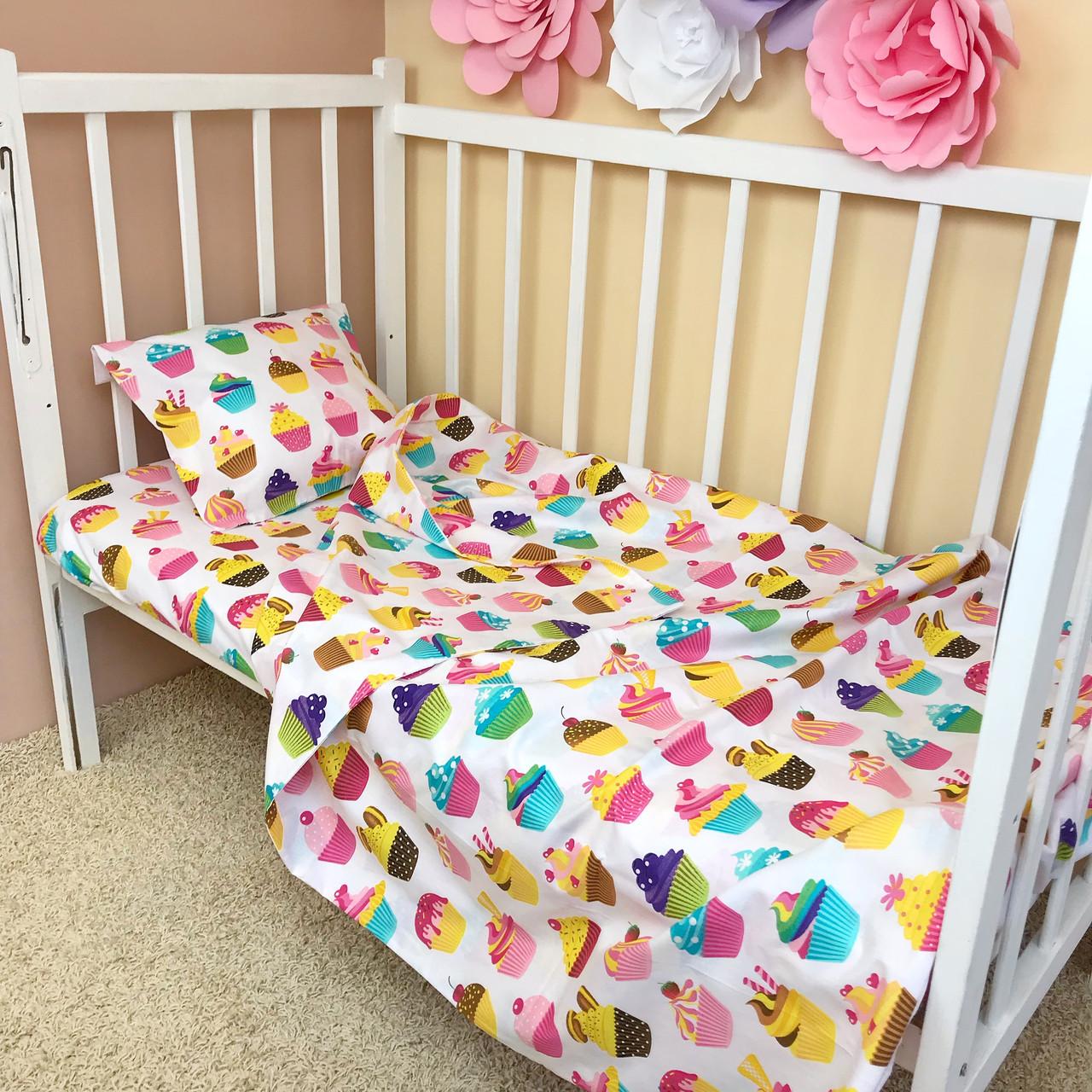 """Постельное бельё в детскую кроватку """"Sweet Cupcakes"""""""