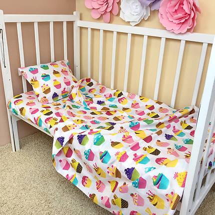 """Постельное бельё в детскую кроватку """"Sweet Cupcakes"""", фото 2"""