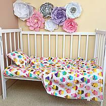"""Постельное бельё в детскую кроватку """"Sweet Cupcakes"""", фото 3"""