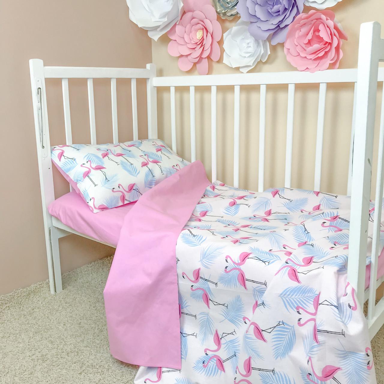 """Детское постельное белье в кроватку """"Flamingo Love"""""""