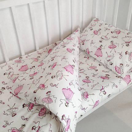 """Постельное бельё в детскую кроватку """"Балерины"""", фото 2"""