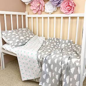 """Постельное бельё в детскую кроватку """"В облаках"""", фото 2"""