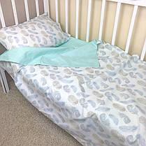 """Постельное бельё в детскую кроватку """"Пёрышки"""", фото 3"""
