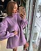 Женское платье- туника крупной вязки в расцветках. ОЛ-11-0119, фото 3