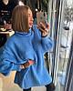 Женское платье- туника крупной вязки в расцветках. ОЛ-11-0119, фото 7