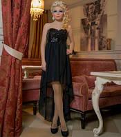 Женское шифоновое  платье со шлейфом