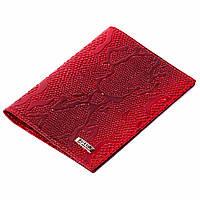 Обложка на паспорт Butun 147-008-006 кожаная красная