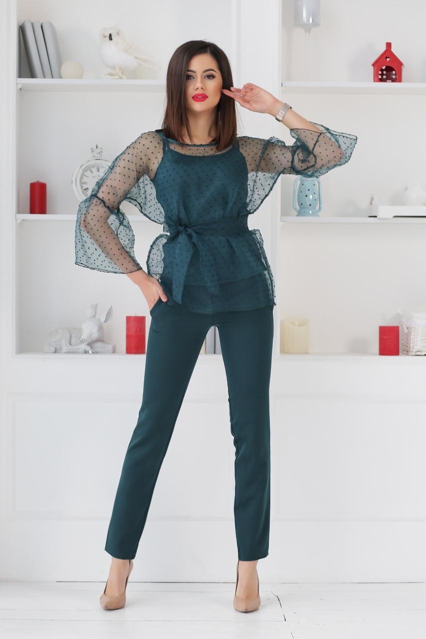 Женский стильный костюм - тройка  НВ467 (норма)