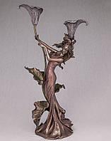 Подсвечник Девушка и каллы Veronese Италия (39 см) 10133 A4
