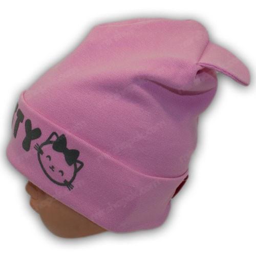 шапка трикотаж детский
