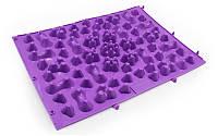 Коврик-пазл ортопедический массажный резиновый (1шт) фиолетовый ZD-5082