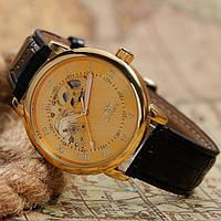Механические часы Winner Gold Tone. Наручные часы скелетоны с открытым механизмом