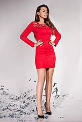 Замшевое платье   JD Кара  в 5ти цветах