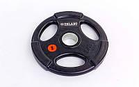 Блины (диски) обрезиненные с хватом с метал.втулкой отв. d-51мм Z-HIT 5кг
