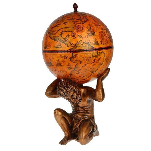 Глобус бар напольный Мир в руках Атланта 42016R